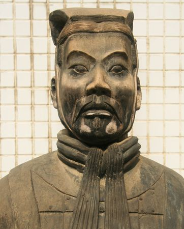 A Portrait of a Terracotta Army Soldier, Xian, Shaanxi, China taken July 25, 2010