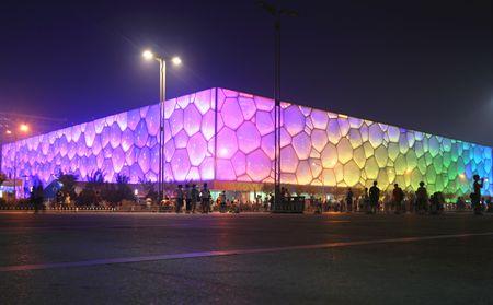 deportes olimpicos: Una vista del cubo, Parque Nacional Olympic, Beijing, China. Conserva todos los eventos de deportes de agua. Foto tomada el 28 de julio de 2010. Editorial