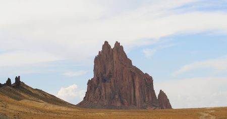 stupendous: A Volcanic Dike, Shiprock, New Mexico, and a Dirt Road on the Navajo Reservation