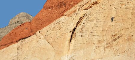 rockclimber: A Climber in Red Rock Canyon National Conservation Area, Las Vegas, Nevada