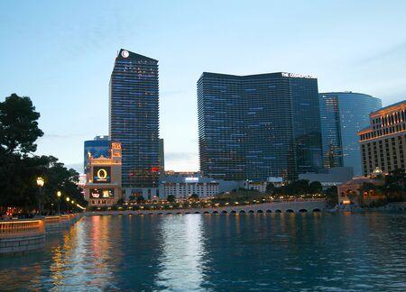 A Bellagio and Cosmopolitan Scene on the Strip in Las Vegas, Nevada, taken December 28, 2010.