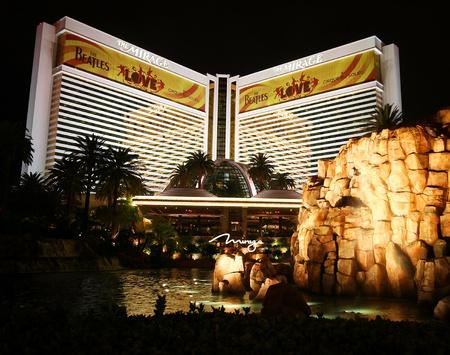 The Mirage on the Strip in Las Vegas, Nevada, taken December 28, 2010. Stock Photo - 8632144