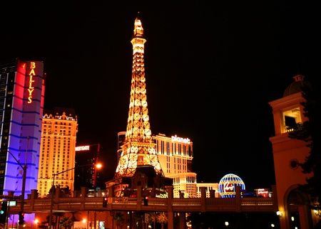 Paris on the Strip in Las Vegas, Nevada, taken December 28, 2010