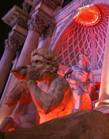 A Mythological Scene on the Strip in Las Vegas, Nevada, taken December 28, 2010