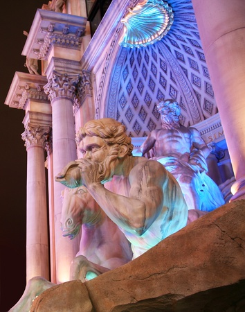 A Mythological Scene on the Strip in Las Vegas, Nevada, taken December 28, 2010