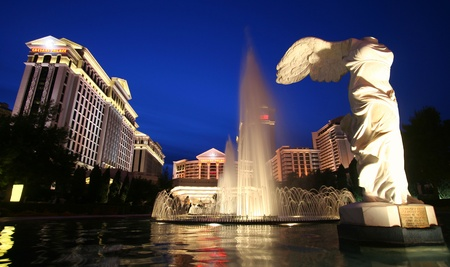angels fountain: A View of Caesars Palace on the Strip in Las Vegas, Nevada, taken December 28, 2010
