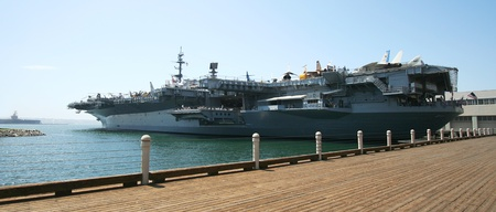 A View of the USS Midway Museum in San Diego, California, taken July 15, 2009