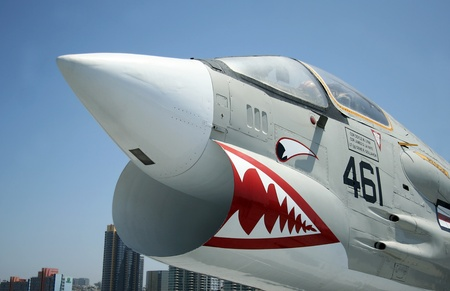 An F-8 Crusader at the USS Midway Museum, San Diego, California, taken July 15, 2009