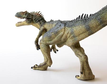 gaping: An Allosaurus Dinosaur with Gaping Jaws Full of Sharp Teeth