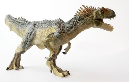 An Allosaurus Dinosaur with Gaping Jaws Full of Sharp Teeth