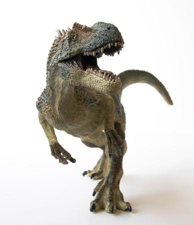 An Allosaurus Dinosaur with Gaping Jaws Full of Sharp Teeth Stock Photo - 9010379