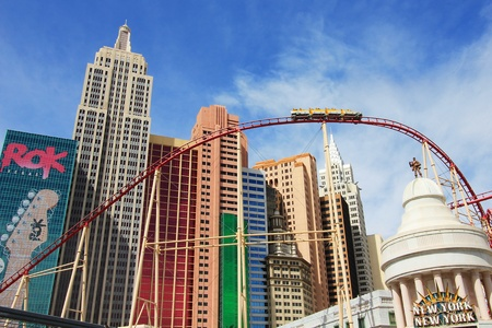 A rollercoaster at New York - New York taken in Las Vegas, Nevada, on March 16, 2011. Stock Photo - 9205039