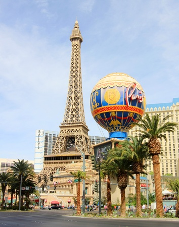 A sunny shot of Paris on the Strip taken in Las Vegas, Nevada, on March 16, 2011.