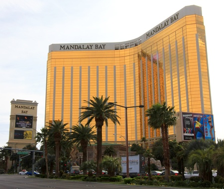 A daytime shot of the Mandalay Bay taken in Las Vegas, Nevada, on March 16, 2011.