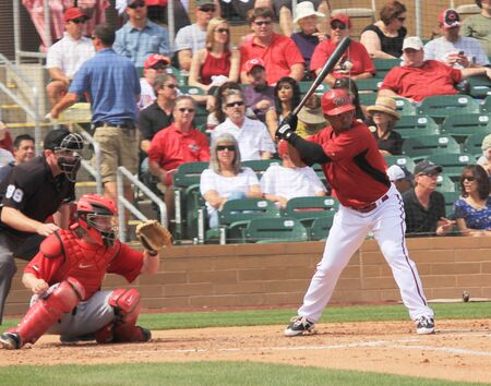 Arizona Diamondbacks Right Handed Batter Tony Abreu in a 2011 Spring Training game against the Cincinnati Reds at Salt River Fields at Talking Stick, Scottsdale, on March 19, 2011 Stock Photo - 9309033
