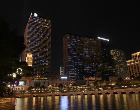 A night view of the Cosmopolitan Hotel and Casino taken in Las Vegas, Nevada, on March 16, 2011.