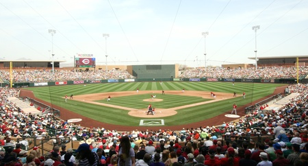 Arizona Diamondbacks in a 2011 Spring Training game against the Cincinnati Reds at Salt River Fields Facility at Talking Stick, Scottsdale, on March 19, 2011