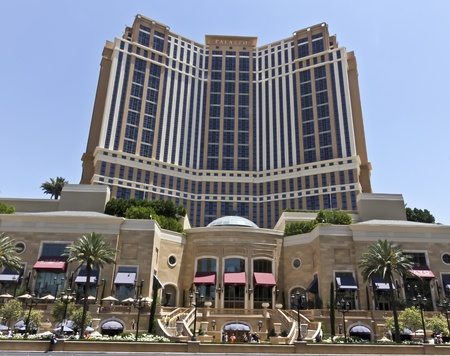 A View of the Palazzo Hotel and Casino in Las Vegas, Nevada, taken on June 9, 2011