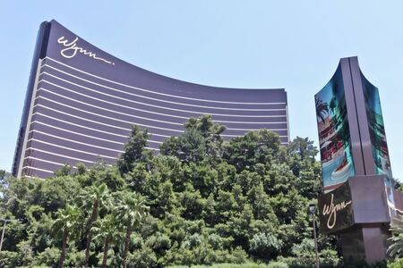 Las Vegas, Nevada - June 9: The Wynn hotel and casino on June 9, 2011, in Las Vegas, Nevada. The Wynn is a luxury hotel and casino on the famous Las Vegas Strip.