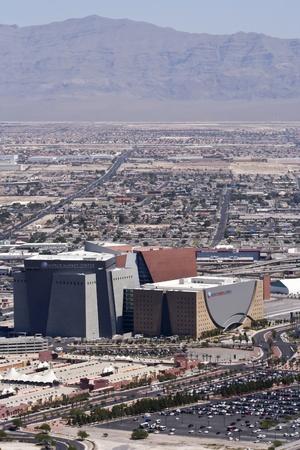 world market: Las Vegas, Nevada - June 9: World Market Center on June 9, 2011, in Las Vegas, Nevada. An aerial view of the impressive World Market Center west of downtown Las Vegas, Nevada, as seen from the landmark Stratosphere Tower. Editorial
