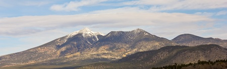 mount humphreys: A View of the San Francisco Peaks in Early Winter Capped with the First Snow of the Season