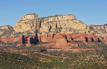 A Luxury Neighborhood in Sedona, Arizona, is Dwarfed By Massive Red Rock Cliffs photo