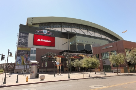 Phoenix, Arizona - June 13: Chase Field on June 13, 2012, in Phoenix, Arizona. Chase Field is the home of MLB's Arizona Diamondbacks. Stock Photo - 14200458