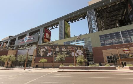 Phoenix, Arizona - June 13: Chase Field on June 13, 2012, in Phoenix, Arizona. Chase Field is the home of MLBs Arizona Diamondbacks.