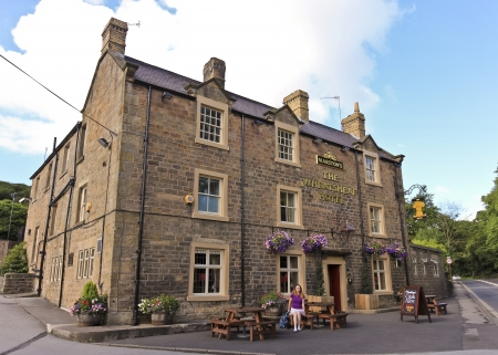 chatsworth: Baslow, England - July 4: The Wheatsheaf Hotel on July 4, 2012, in Baslow, England. A look at The Wheatsheaf Hotel in Baslow, England, within walking distance of the famous Chatsworth House. Editorial