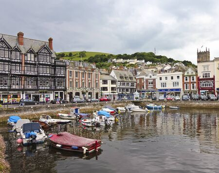 Dartmouth, England - July 14: Dartmouth Parish on July 14, 2012, in Dartmouth, England. A tourist destination,  Dartmouth is set on the banks of the estuary of the River Dart.