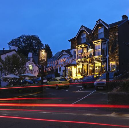 cumbria: South Lakeland, Cumbria - July 21: The Royal Oak on July 21, 2012, in Bowness-on-Windermere, South Lakeland, Cumbria. This town on the banks of Lake Windermere is a tourist honeypot.