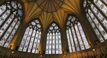 York, England - July 7: York Minster Chapter House on July 7, 2012, in York, England. A view of York Minster, Englands largest medieval church. Editöryel