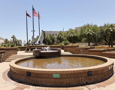 wesley: Phoenix, Arizona - June 13: Wesley Bolin Memorial Plaza on June 13, 2012, in Phoenix, Arizona. The USS Arizona Memorial is one of many memorials at the Wesley Bolin Memorial Plaza urban park. Editorial