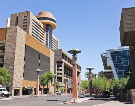 Phoenix, Arizona - June 13: Hyatt Regency Phoenix on June 13, 2012, in Phoenix, Arizona. Hyatt Regency Phoenix is a convention center for the City of Phoenix, Arizona, United States.