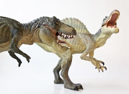 tiranosaurio rex: Un dinosaurio de Spinosaurus en un Face Off con un Tyrannosaurus Rex
