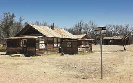 Cochise County, Arizona - April 21: Railroad Ave. on April 21, 2013, in Fairbank Ghost Town, Arizona. Railroad Ave. sits in Fairbank, a ghost town in Cochise County, Arizona, near the San Pedro River, and is very popular with tourists. Stock Photo - 19235785