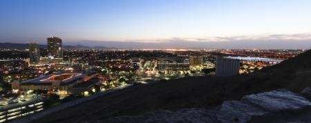 A Twilight View of Tempe and Phoenix, Arizona