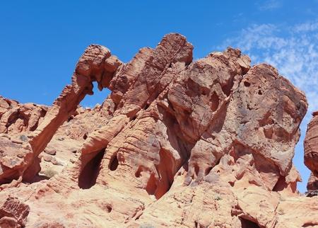 las vistas: A Valley of Fire Elephant Rock View, north of Las Vegas, Nevada Stock Photo