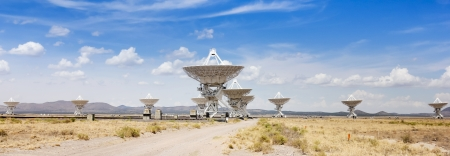 grandeur: VERY LARGE ARRAY, New Mexico - July 10: The Very Large Array on July 10, 2013, at the National Radio Astronomy Observatory, New Mexico. Eleven scopes at the Very Large Array, the largest configuration of radio telescopes in the world. Editorial