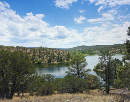 national scenic trail: A Lake Roberts View in the Gila National Forest, New Mexico, on the Trail of the Mountain Spirits National Scenic Byway