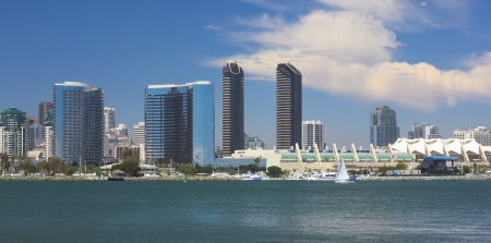 A View of San Diego Bay and Downtown San Diego on a Sunny Day Imagens