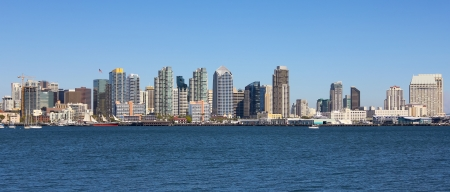 diego: A View of San Diego Bay and Downtown San Diego on a Sunny Day Stock Photo