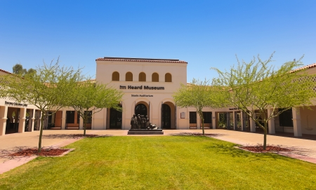 cultural artifacts: PHOENIX, ARIZONA - JUNE 5: The Heard Museum on June 5, 2013, in Phoenix, Arizona. The Heard Museum is an internationally known museum of Native American cultural artifacts located on Central Avenue, Phoenix. Editorial