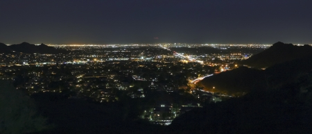 A City of Phoenix, Arizona, at Night Shot