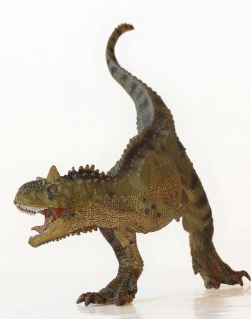 whose: Un dinosaurio Carnotaurus Flesh Eating cuyo nombre significa el toro carn�voro Foto de archivo