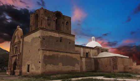 jesuit: An Old Mission at Sunset, Tumacacori National Historical Park, Arizona