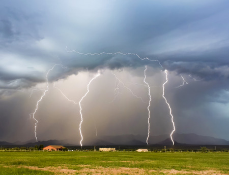 A Dance of Four Lightning Strikes in the Mule Mountains