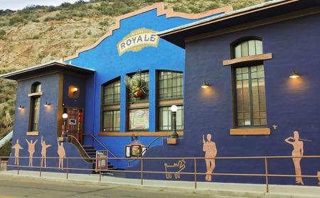 royale: Bisbee, Arizona - January 3: Tombstone Canyon on January 3, 2015, in Bisbee, Arizona. The Bisbee Royale Theatre on Main Street in Bisbee, Arizona.