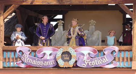 apache: APACHE JUNCTION, ARIZONA - MARCH 14: The Arizona Renaissance Festival on March 14, 2015, near Apache Junction, Arizona. A Royal Family at the 27th Annual Arizona Renaissance Festival held near Phoenix.