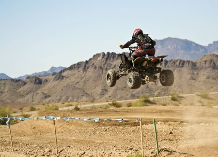 LAKE HAVASU CITY, ARIZONA - JUNE 7: SARA Park on June 7, 2015, in Lake Havasu City, Arizona. A four wheeler racer practices at SARA Park in Lake Havasu City in Arizona.